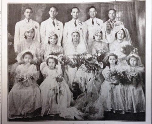 DeLay and Blandin Wedding- 1939